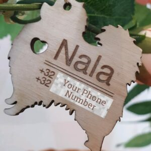 Wooden keychain by Nala