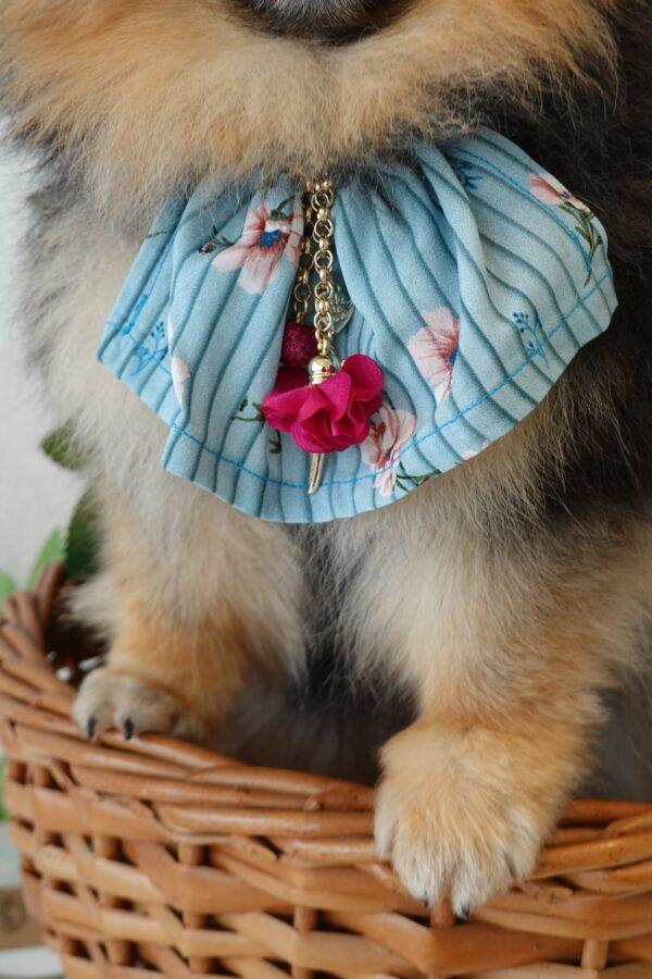 Handmade by Nala blue pink flower jewelry