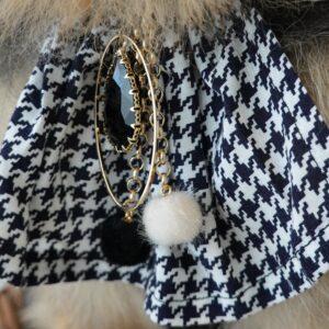 Handmade by Nala pied du poule jewelry