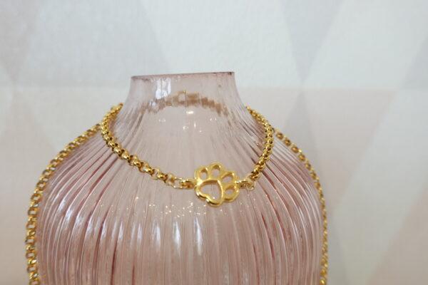 golden bracelet dog paw